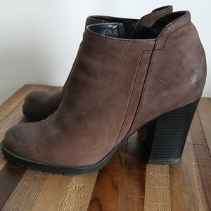 Franco Sarto distressed leather ankle boots